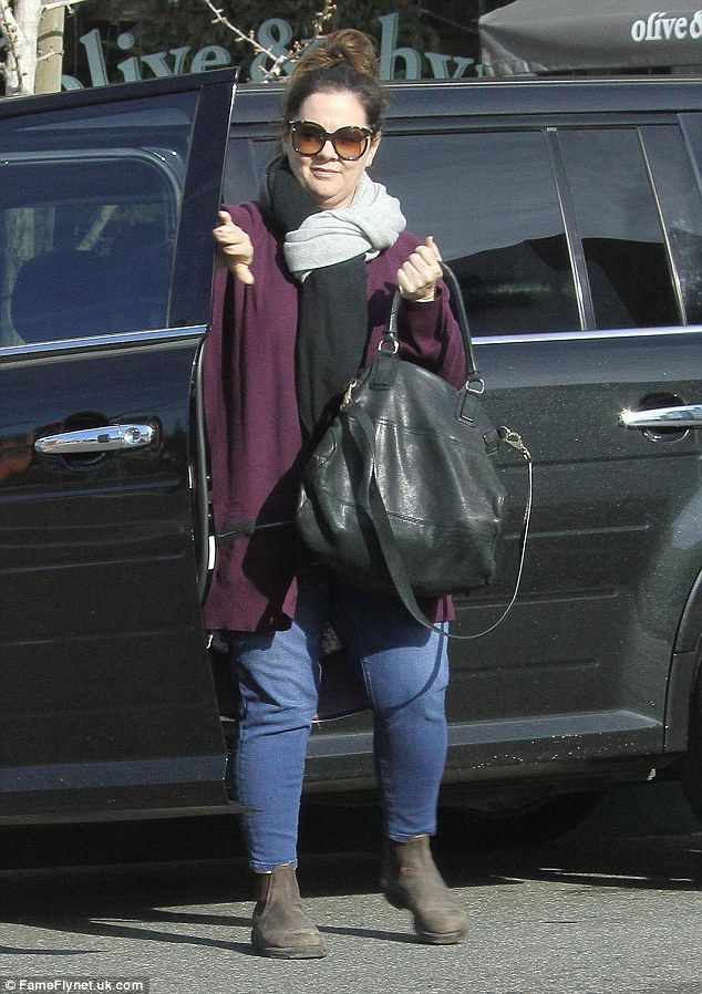 A new look: Melissa McCarthy wore skinny jeans as she headed to Olive & Thyme in LA's Tolu...