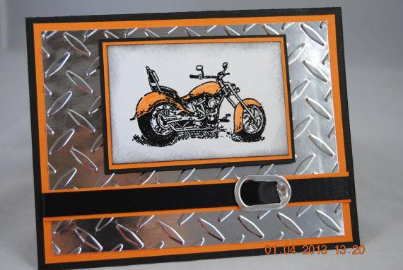Открытка папе мотоцикл