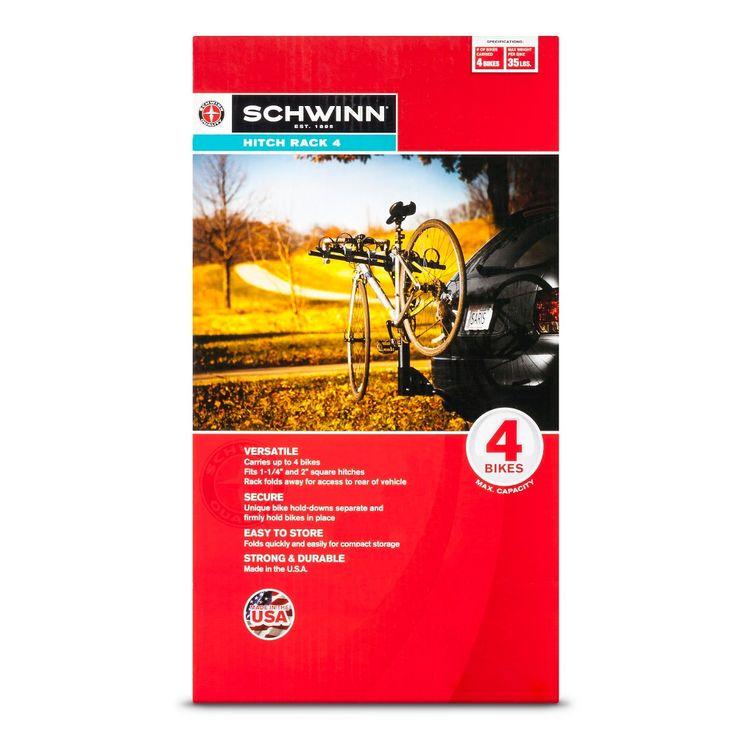 Schwinn 4 Bike Hitch Rack, Black