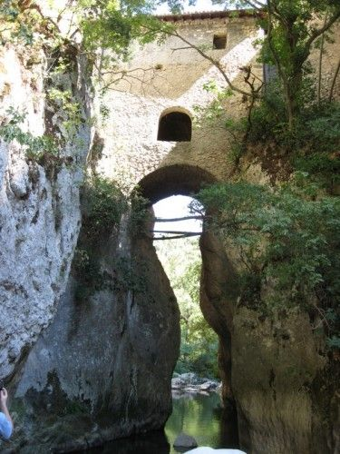 """The territory of Abruzzo, dominated from forests and full of great rock walls: a natural shelter for the hermits…"""". Via News and offers by Sextantio Hotel: """"Hermitages"""",  guided excursion visiting the Hermitage of Sant'Onofrio al Morrone and the Hermitage of San Venanzio in Abruzzo."""