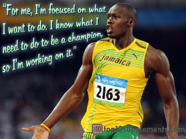Quote for today #top10supps #Usain Bolt #qoute #fitness