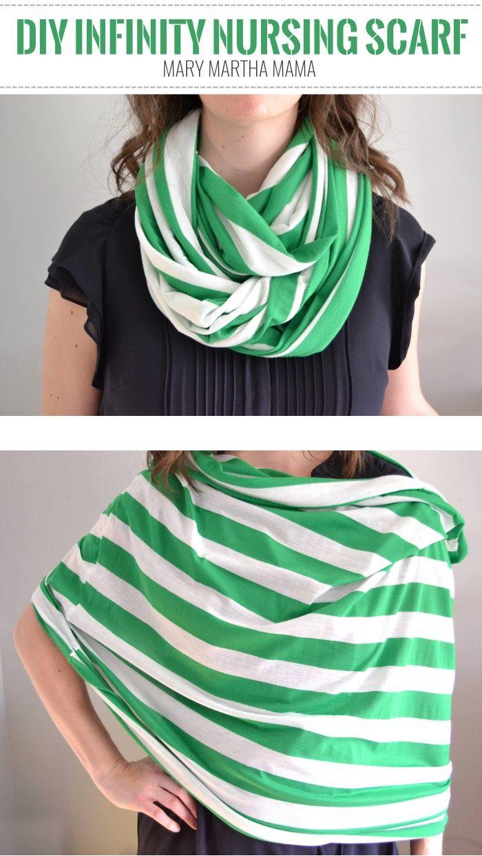 DIY Infinity Nursing Scarf Tutorial – Mary Martha Mama- how to make a breastfeeding cover