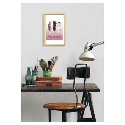 Be Kind and Be Brave Pink by Tara Moss Framed Poster - Art.com