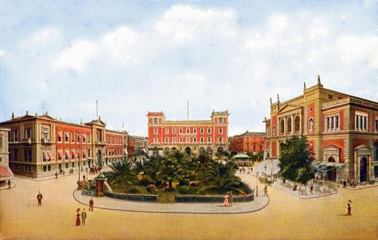 Αθήνα, περ. 1905, Πλατεια Λουδοβίκου (σημερινή Πλατεία Κοτζιά).