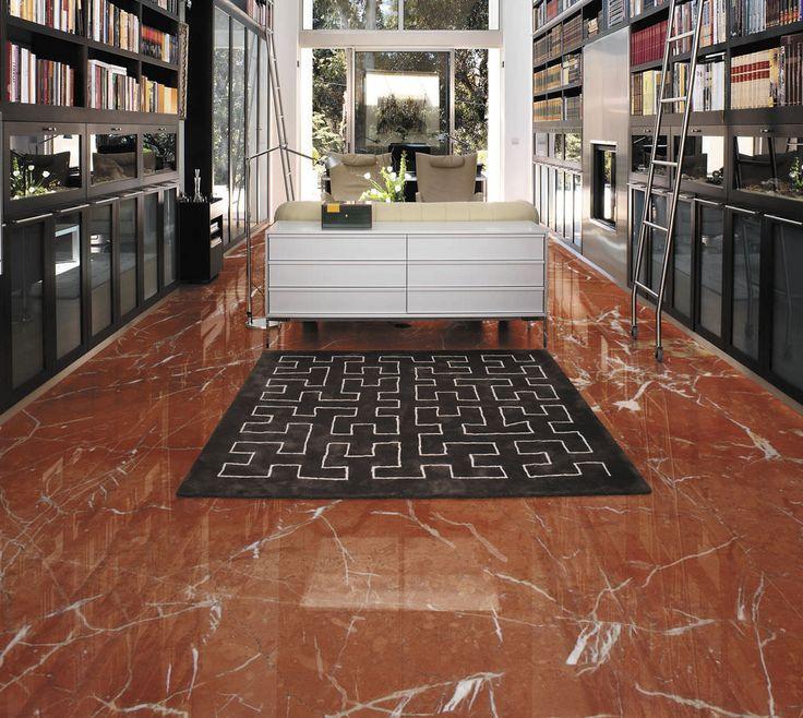 Suelo en m rmol rojo alicante espacios en m rmol rojo for Como limpiar marmol blanco manchado