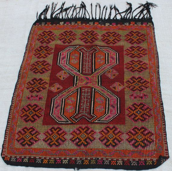 5x4 turkish kilim rug vintage small rug handmade #housewares @EtsyMktgTool  #handmade #anatolian #traditional #handwoven #arearug #vintage