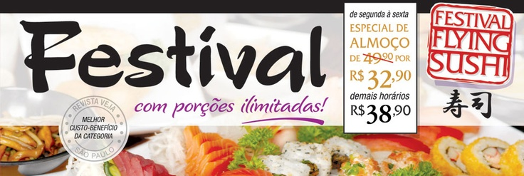 Festival Flying Sushi por R$32.90