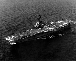 USS Hancock (CV/CVA-19) was one of 24 Essex-class aircraft carriers built during World War II for the United States Navy. The ship was the fourth US Navy ship to bear the name, and was named for John Hancock, president of the Second Continental Congress and first governor of the Commonwealth of Massachusetts.