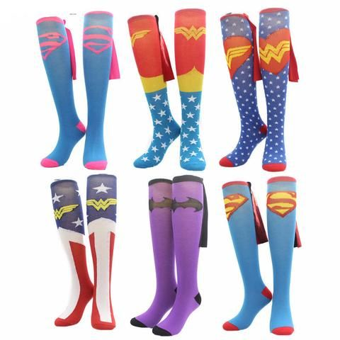Really Funky Superhero COSPLAY Knee High Socks (19 options)