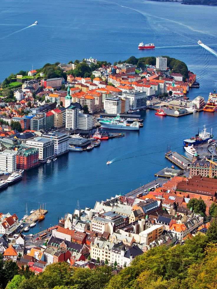 Bergen! | 15 reasons why Norway will Rock your World | 13.  Bergen city in Norway view from hill