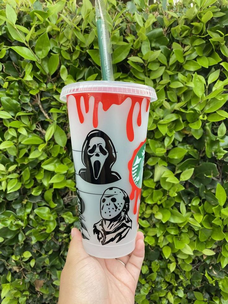 If you're craving starbucks on april 4, you'll want to call ahead. Horror Friends Halloween Inspired Starbucks cup Scary | Etsy in 2021 | Starbucks cups, Starbucks ...