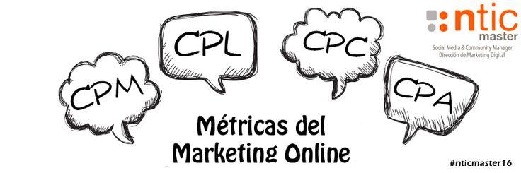 Métricas del #marketingonline  #CPM (Coste por mil impresiones servidas).   #CPL (Coste por Lead).   #CPC (Coste por Click).   #CPA (Coste por Adquisición)  Más aquí: https://www.instagram.com/nticmaster_socialmedia/