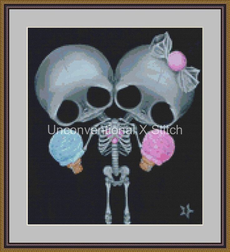 Sugar Twins conjoined twins cross stitch pattern - Sugar Twins MINI - Licensed Sugar Fueled by UnconventionalX on Etsy
