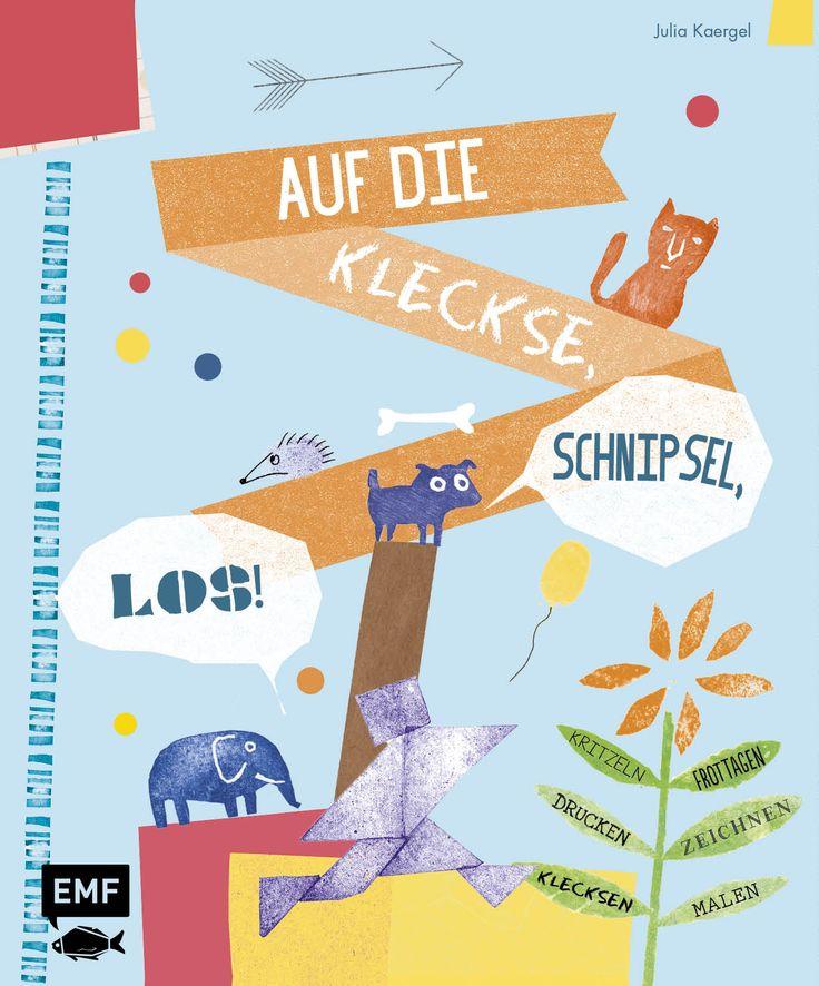 AUF DIE KLECKSE, SCHNIPSEL, LOS! - Kritzeln, Frottagen, zeichnen, drucken, Kleckse gucken, Herausgegeben von Julia Kaergel, 96 Seiten, Softcover mit Klappen, inklusive Schablonen, Format 23,0 x 28,0 cm, ISBN: 978-3-86355-244-2, Bestellnr.: 55244, 12,99€ (D) / 13,40€ (A), Bestellbar unter www.edition-m-fis...