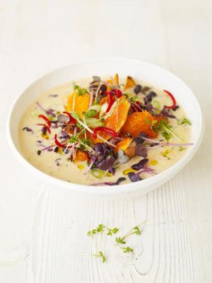 Butternut squash laska soup.  Spice things up with this delicious Malay dish.