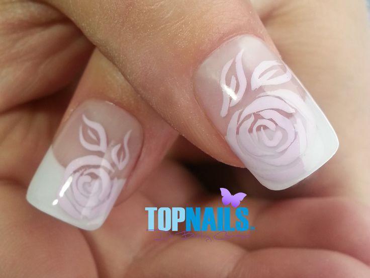 Uñas Acrílicas con decorado floral.(Acrylic Nails with floral design  Hazte Fans o Me Gusta  en https://www.facebook.com/topnails.cl   www.topnails.cl ☎94243426, saludos Beatriz