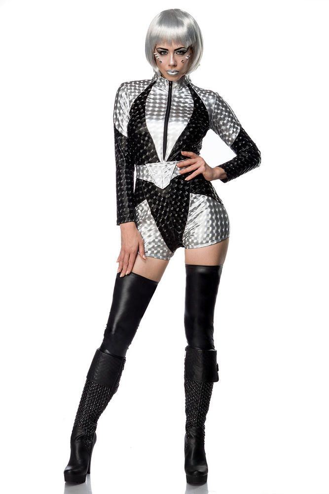 Space Kostüm Fasching Halloween Star Wars Karneval Damen Verkleidung Star Trek