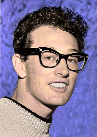Buddy Holly, one of my absolute favorites, I love his music soo sooo much.  And, he's a cutie (: