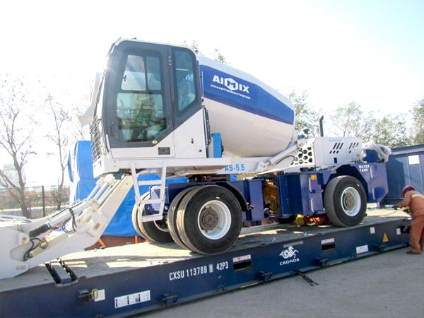 As 5 5 Self Loading Concrete Mixer To The Philippines In 2020 Concrete Mixers Mixer Truck Concrete Truck
