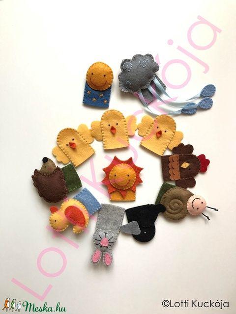 Nagytakarítás a napnál ujjbábkészlet, Baba-mama-gyerek, Játék, Báb, Készségfejlesztő játék, Baba-és bábkészítés, Hímzés, Meska