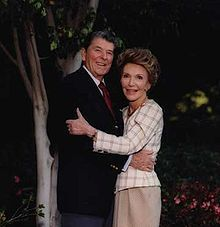 Ronald and Nancy Reagan, his second marriage. He is the only US president to have been divorced.
