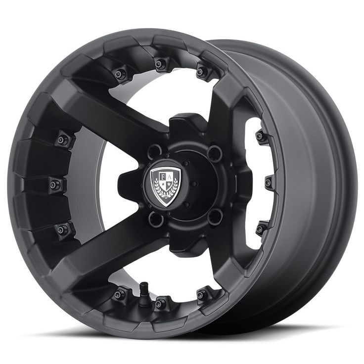 Matte black and timeless four spoke design, the FA138 Battle is one great looking wheel style that compliments any golf car make or model. We finish this beautiful 12x7 wheel in deep, matte black auto
