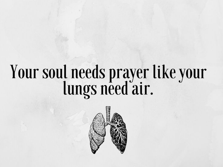 Our soul needs prayer like our lungs need air