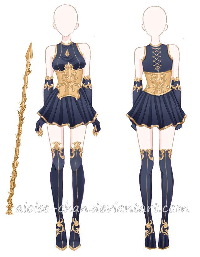 [CM] Tendrils Armour/Spear @JittWolfProductions by Aloise-chan.deviantart.com on @DeviantArt