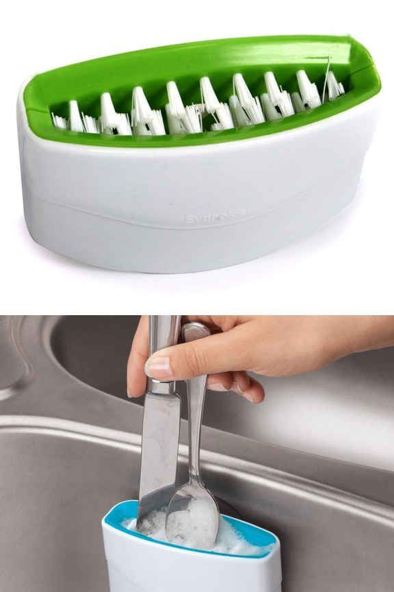 21 products that basically clean your house for you. one-step cleaner for your cutlery.