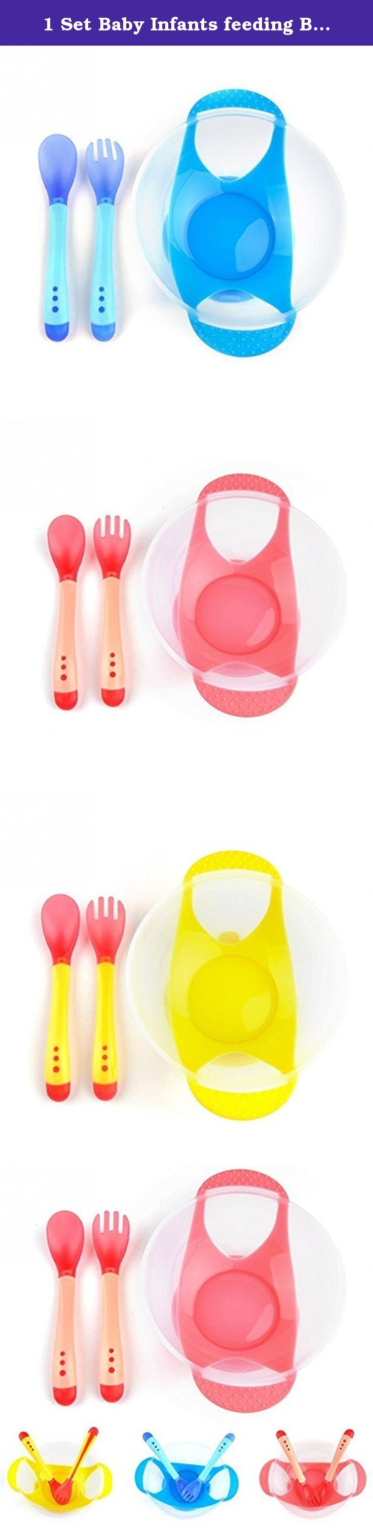 1 Set Baby Infants feeding Bowl With Sucker and Temperature Sensing Spoon Suction Cup Bowl Slip-resistant Tableware Set. Material : PC Pattern Type : Solid Certification : CIQ Brand Name : oem Model Number : / Type : Flatware Age Group : Babies Pattern : as photo Features: Can be broadly tested babies temperature material to prevent the baby was burned hot. Spoon over hot temperatures will change. Feeding part is based on the characteristics of the infant\'s mouth functions designed to...