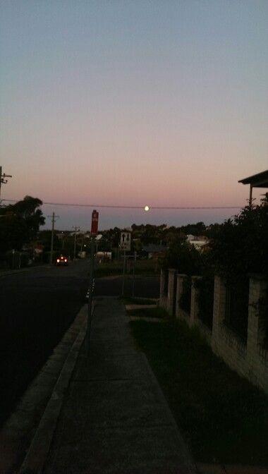 Full moon over thomas st