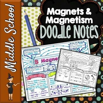 MAGNETS & MAGNETISM SCIENCE DOODLE NOTES, INTERACTIVE NOTE
