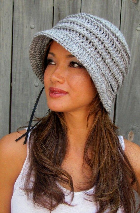 Womens Hat FLAPPER Cloche Hat Year Round Hat Cap by SWAKCouture
