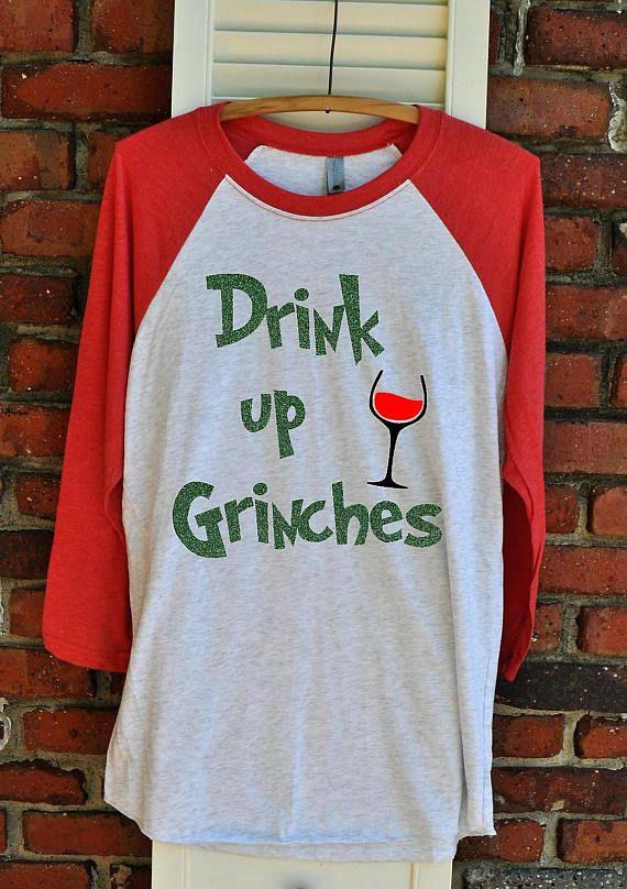 Drink up Grinches Unisex Raglan