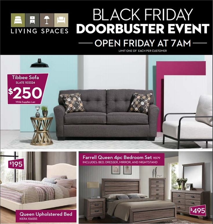 Living Spaces 2020 Black Friday Ad, Furniture Black Friday Ad 2020