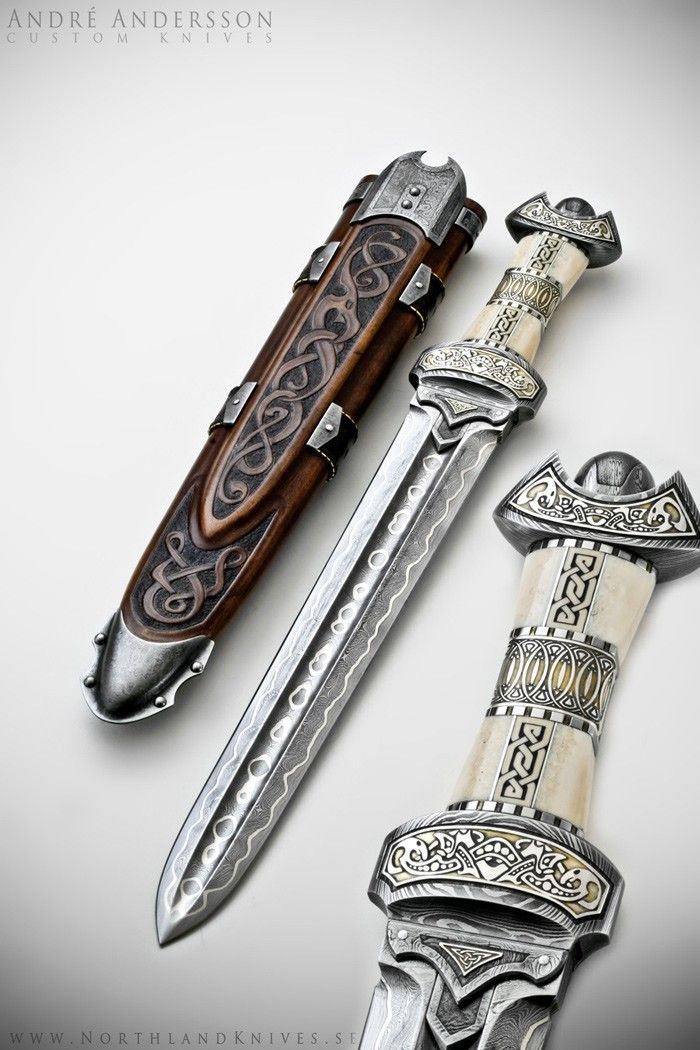 "Viking Dirk - by Northland Knives (Andre Anderson)    Not quite a sword, but it's a companion to ""Balmung"""