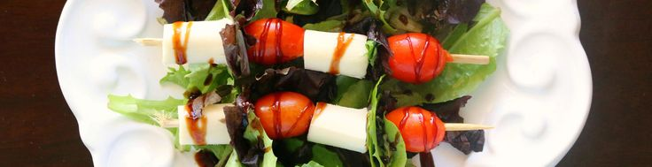 Heather from It's a Lovely Life dresses up our Wisconsin String Cheese Sticks with balsamic vinaigrette, fresh cherry tomatoes and lettuce for a light, satisfyi…