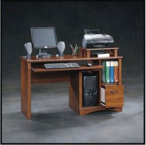Could this be the perfect desk for the home or small office? In any case this Sauder Camden County Computer Desk takes organization to the next level. Functional and good-looking, this desk has a CPU shelf to keep your PC out of the way, but with an open front so you can still get to your drives and USB ports. The printer goes on the built in printer shelf while the paper can go underneath.  It can also hold large books and files on your most important projects...#office