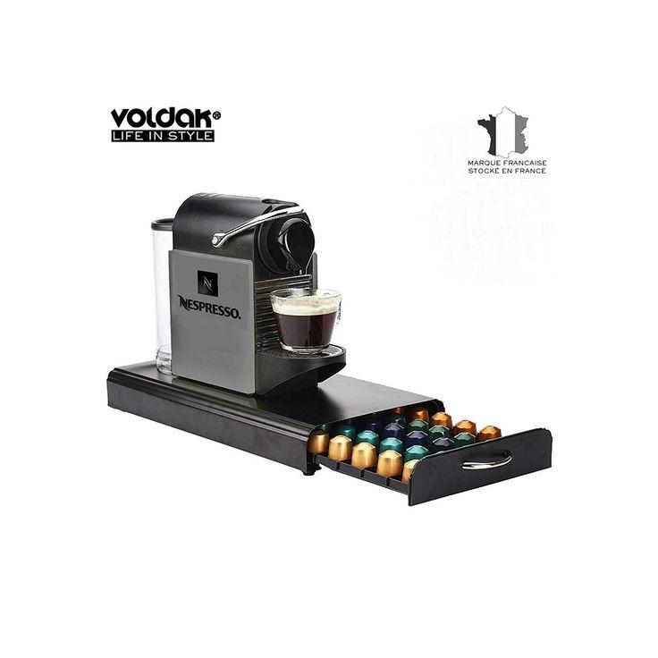 VOLDAK Tiroir à Capsule café ZX19 Métal Compatible