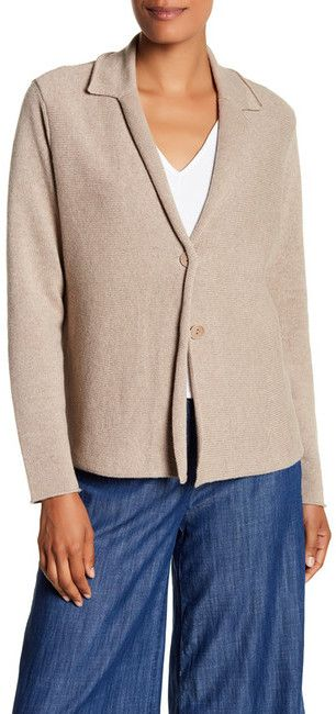 Eileen Fisher Recycled Cashmere & Merino Wool Sweater Jacket