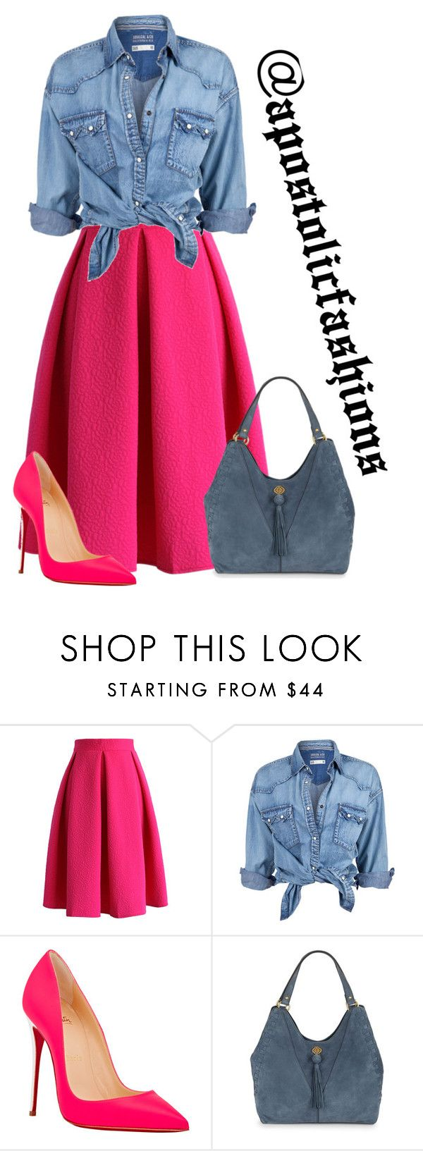 """""""Apostolic Fashions #1353"""" by apostolicfashions on Polyvore featuring Chicwish, Soul Cal, Christian Louboutin and Nanette Lepore"""