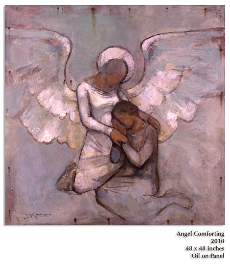 Angel Comforting by J Kirk Richards