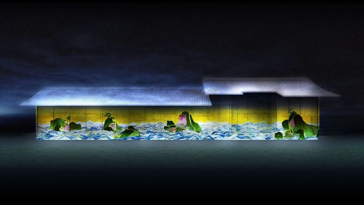 100 Years Sea Animation Diorama Saga Castle Ver.チームラボ プロジェクションマッピング@佐賀城 「百年海図巻 佐賀城 Ver.」 http://www.team-lab.net/latest/exhibitionlist/honmarudate.html