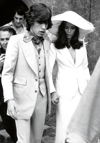 Mick Jagger and Bianca Perez Morena de Marcias just after their wedding in St Tropez, France on 12 May 1971. By Patrick Lichfield