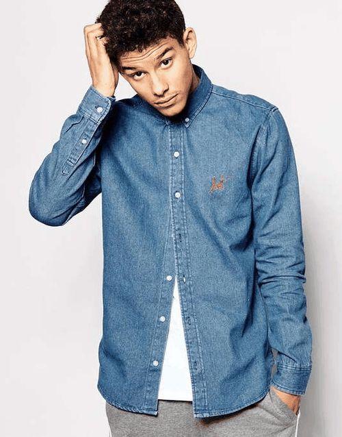 HUF   Denim Shirt #huf #denim #shirt