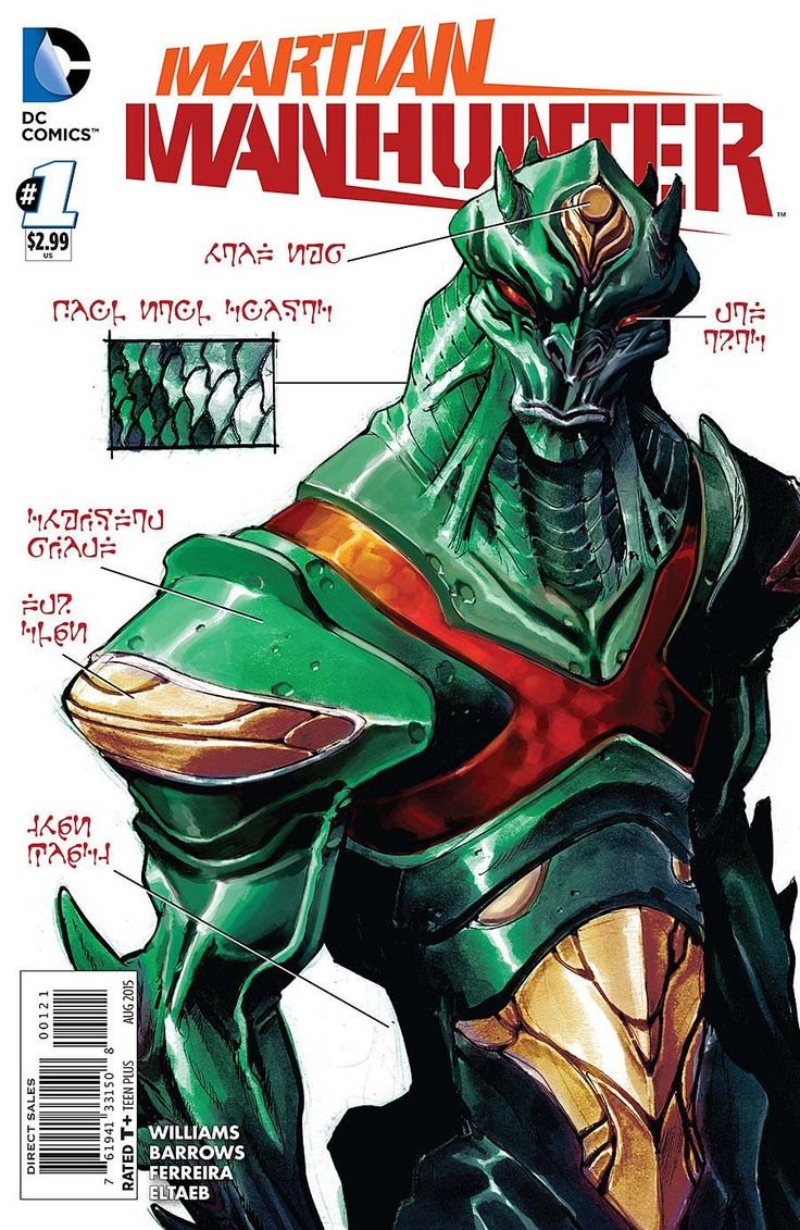 Martian Manhunter #1 variant cover by Eric Canete *
