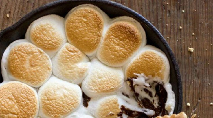Trempette s'mores sur biscuits Graham