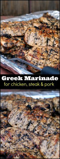 Greek Marinade for Chicken, Steak & Pork | Aunt Bee's Recipes