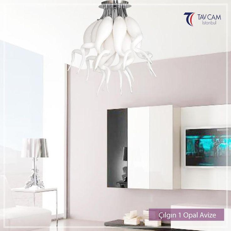 Çılgın 1 Opal Avize'sinin sıra dışı tasarımı ve opal rengiyle mekanınıza farklılık katacaksınız. Çılgın 1 Opal Avizeyi Daha Detaylı İncelemek İçin: http://bit.ly/2Ae2fWG #tavcam #tavcamavize #aydınlatma #design #opalavize #tavcamçılgınavize #avize #avizemodelleri #tasarım #dekorasyon