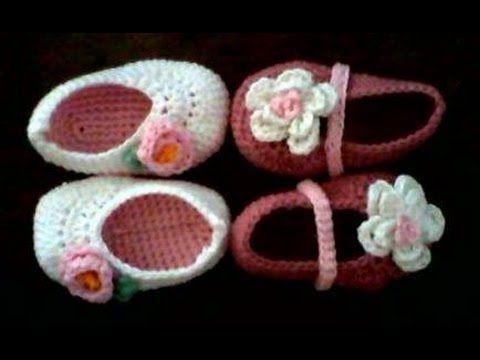 tutorial zapatitos de crochet para bebe paso a paso - YouTube ... bae981e45f2